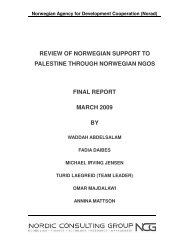 Norad NGO Review Palestine Final Report - Channel Research