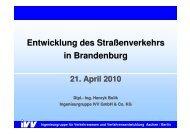 Entwicklung des Straßenverkehrs in Brandenburg - VSVI
