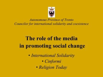 The role of the media in promoting social change - EAI