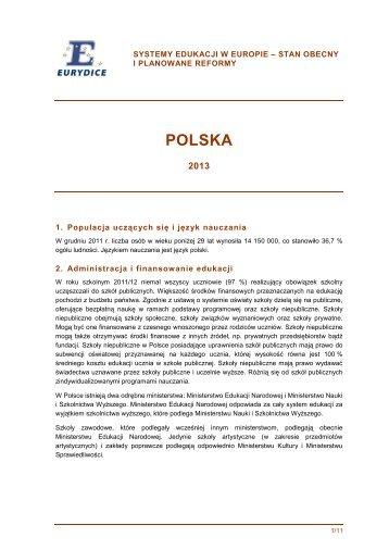 w języku polskim - Eurydice