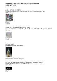 Ausstellungsübersicht Open Art 2013