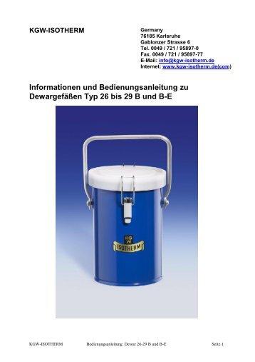Karlsruher Glastechnisches Werk - KGW Isotherm
