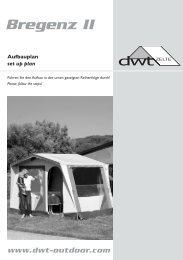 Uppsättningsanvisning - Bregenz II - dwt-Zelte