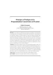 Principes et Pratiques de la Programmation Concurrente en Pi-calcul
