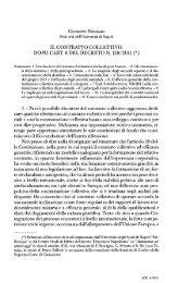 il contratto collettivo. dopo lart. 8 del decreto n. 138/2011 - Studium