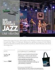 Idée séjour Festivals Jazz Saint-Sébastien
