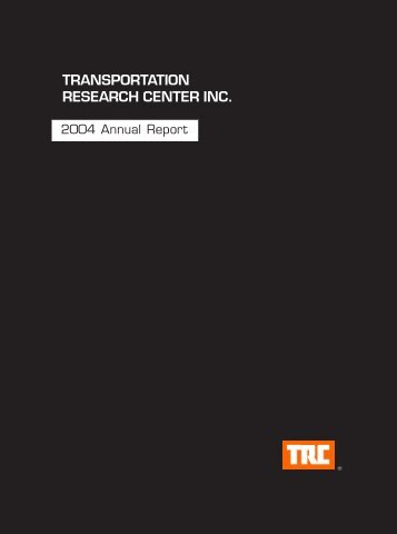 Fiscal Year 2004 - Transportation Research Center