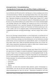 Sozialpolitische Forderungen der LAG FW an ... - LAGFW Bayern
