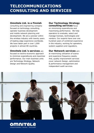 telecommunications consulting and services - Africa Com