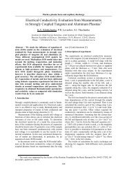 Electrical Conductivity Evaluation from Measurements in Strongly ...