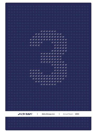 Annual report 2003 - Adria Airways