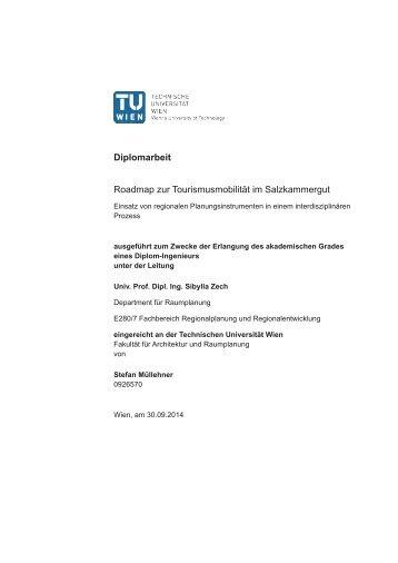 Diplomarbeit Roadmap zur Tourismusmobilität im Salzkammergut