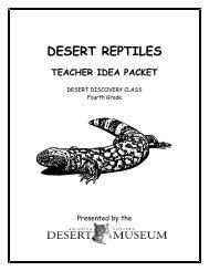 DESERT REPTILES - Arizona-Sonora Desert Museum