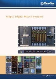 Clear-Com Digital Matrix Brochure - stagecraft fundamentals