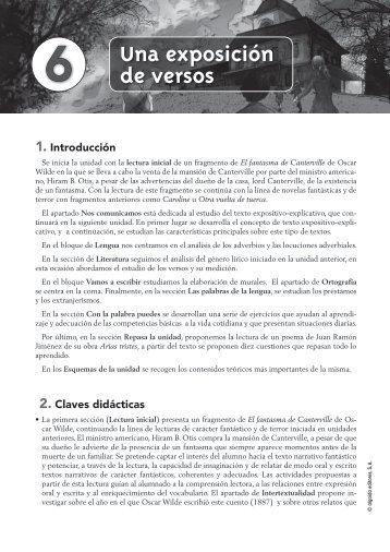 Propuesta Didáctica Unidad 6. Lengua castellana y ... - Algaida