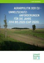Umweltbundesamt, Hintergrundpapier vom Januar 2010