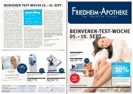 BEINVENEN-TEST-WOCHE 05.–10. SEPT - Friedheim Apotheke