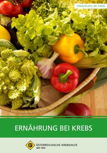 ERNÄHRUNG BEI KREBS - Krebshilfe Oberösterreich