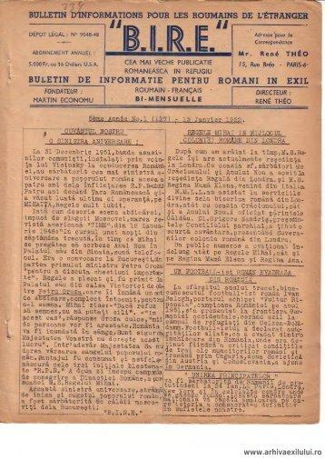 BIRE NR. 1(127) - arhivaexilului.ro
