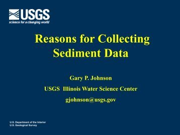 Reasons for Collecting Sediment Data - USGS Water Resources for ...