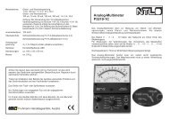 Analog-Multimeter P3210-1C - NTL Fruhmann