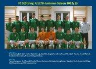 FC Stätzling: U17/B-Junioren Saison 2012/13 - jfgwittelsbacherland.de