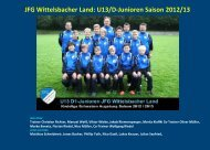 JFG Wittelsbacher Land: U13/D-Junioren Saison 2012/13