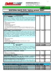SISTEMA RACE EVO: listino prezzi 2007 - Auto Consulting