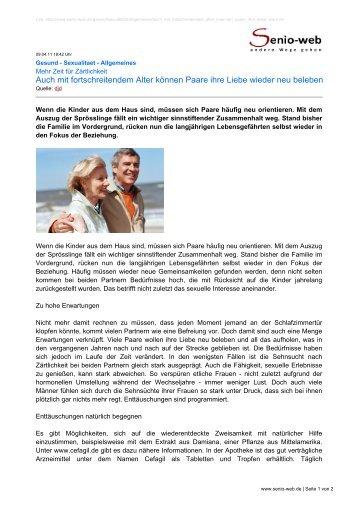 Auch mit fortschreitendem Alter können Paare ihre ... - Senio-Web