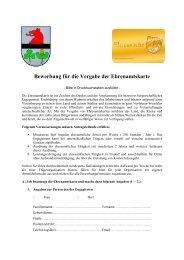 Bewerbung für die Vergabe der Ehrenamtskarte - Stadt Elsdorf
