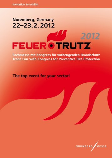 Nuremberg, Germany The top event for your sector! - FeuerTRUTZ