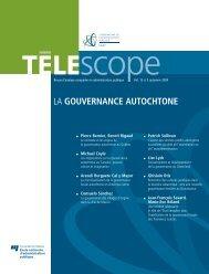 La gouvernance autochtone - L'Observatoire de l'administration ...