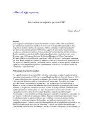Lei e ordem no segundo governo FHC - BuscaLegis - UFSC