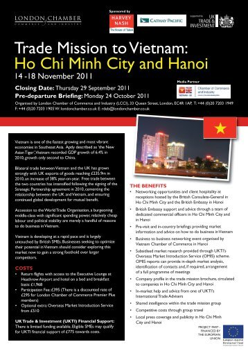 Ho Chi Minh City - London Chamber of Commerce and Industry