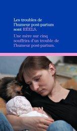 Troubles de l'humeur post-partum - Lavieavecunnouveaubebe.com
