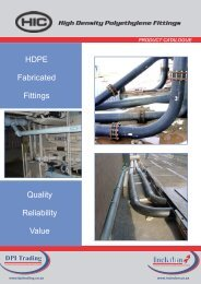 HIC Fabricated HDPE Fittings Catalogue - Incledon