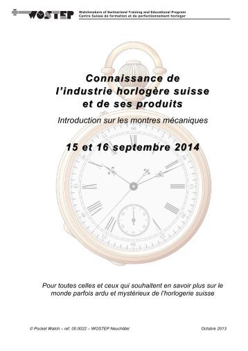 Knowledge Knowledge of the Swiss watch industry of the ... - WOSTEP