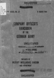 Company Officer's Handbook Of The German Army - Command and ...