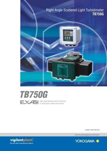 TB750G Right Angle Scattered Light Turbidity Analyzer - Yokogawa