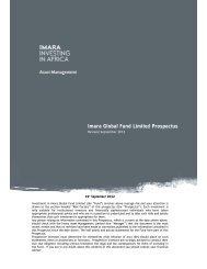 Imara Global Fund Limited Prospectus - The Stock Exchange of ...