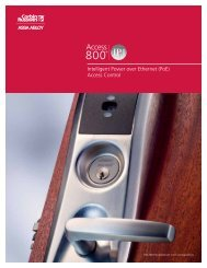 CORBIN RUSSWIN Access 800 IP1 PoE Catalog - Access Control ...