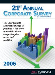 PDF: 21st Annual Corporate Survey Complete Results - Area ...