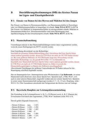 (DfB) des Kreises Passau im Ligen - BTTV - Kreis Passau
