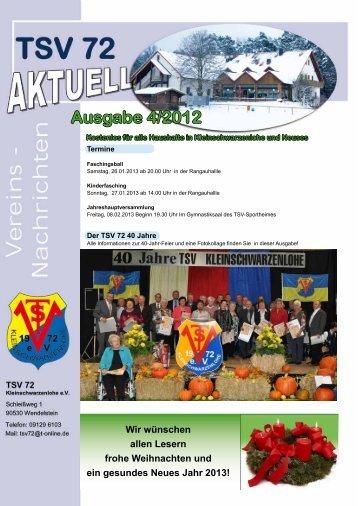 Aktueller Newsletter des TSV Kleinschwarzenlohe