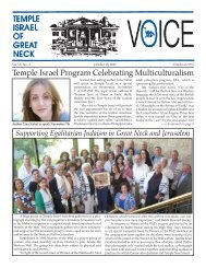 October 18 - Temple Israel of Great Neck
