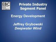Energy Development Jeffrey Grybowski Deepwater Wind Private ...