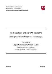 Niedersachsen und die GAP nach 2013