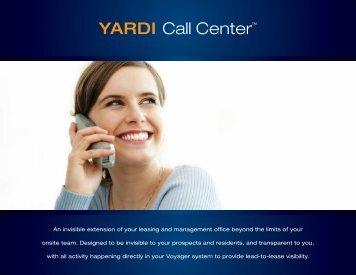 YARDI Call Center™ - Yardi Systems UK
