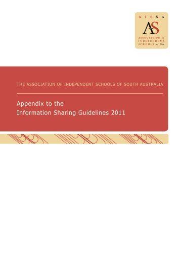 Information Sharing Guidelines Appendix - Association of ...