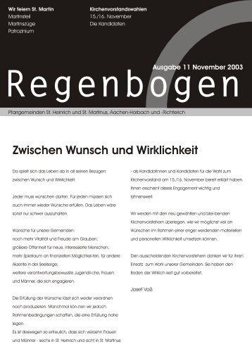 Regenbogen November 2003 - St. Heinrich